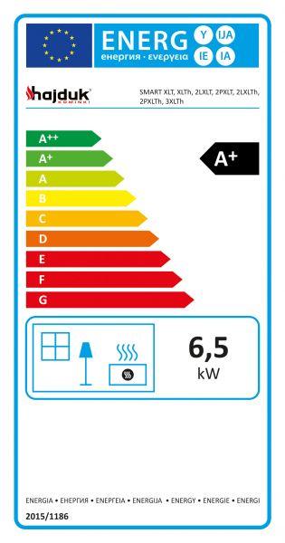 etykieta energetyczna hajduk konwekcyjne - Wkład kominkowy Hajduk Smart 2PXLT - drzwiczki bezramowe