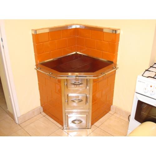 kuchnia skosna 500x500 - Rama skośna lux mosiężna rurka