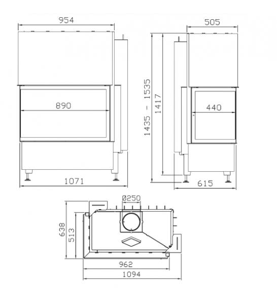rys tech 1ae7c19e - Krbová vložka Radiante 550/20/45-89.44 H ľavý