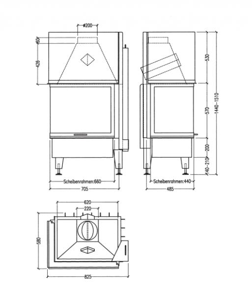 rys tech 5b3ebbc1 - Wkład kominkowy Radiante 550/20/57-66.44 H WW ECOplus prawy