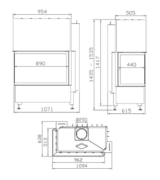 rys tech - Krbová vložka Radiante 550/20/57-89.44 H ľavý