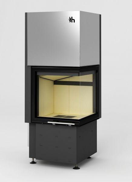 smart 2pth - Fireplace insert Hajduk Smart 2PTh - frameless door