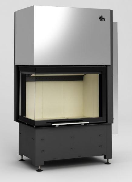 volcano 2lth - Fireplace insert Hajduk Volcano 2LTh - frameless door