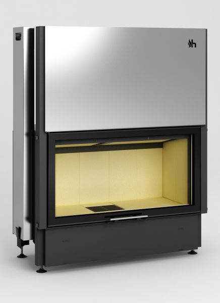 volcano dth - Fireplace insert Hajduk Volcano DTh - frameless door