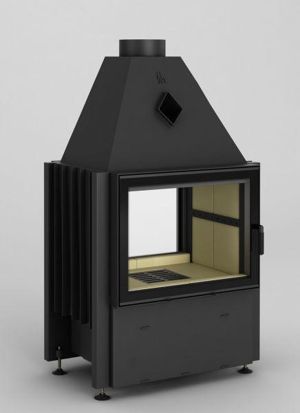 volcano fdt - Fireplace insert Hajduk Volcano FDT  - frameless door