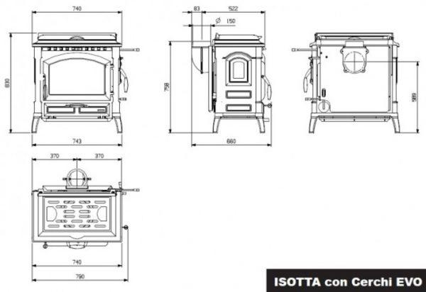 b shop5 58 600x412 - LaNordica Extraflame Isotta Con Cerchi