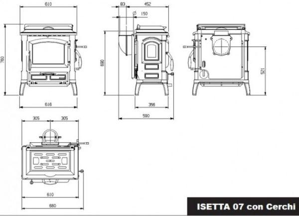 b shop6 56 600x433 - LaNordica Extraflame Isetta Con Cerchi Evo