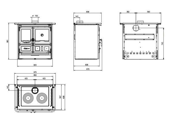 b shop 418a 600x423 - La Nordica Rosa L 8kW