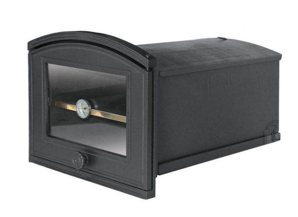 6517a74dfedf0784070c53d11786b944 600x437 - Piekarnik żeliwny z szybą i termometrem PŻE2T ( otwierany w prawo)