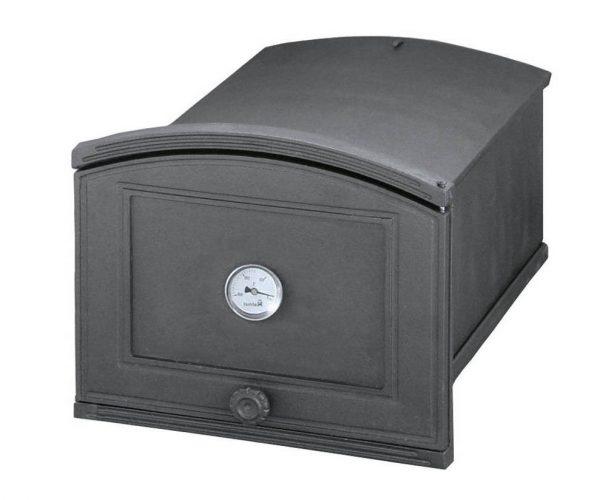 8341a67c11f2a571ee7cf17099a20cf6 600x500 - Piekarnik żeliwny z termometrem PŻEP2T ( otwierany w prawo)