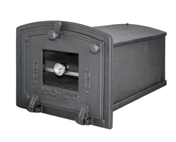 b33092bae01cc2973ad0dba4eb2116fe 600x485 - Piekarnik żeliwny z szybą i termometrem