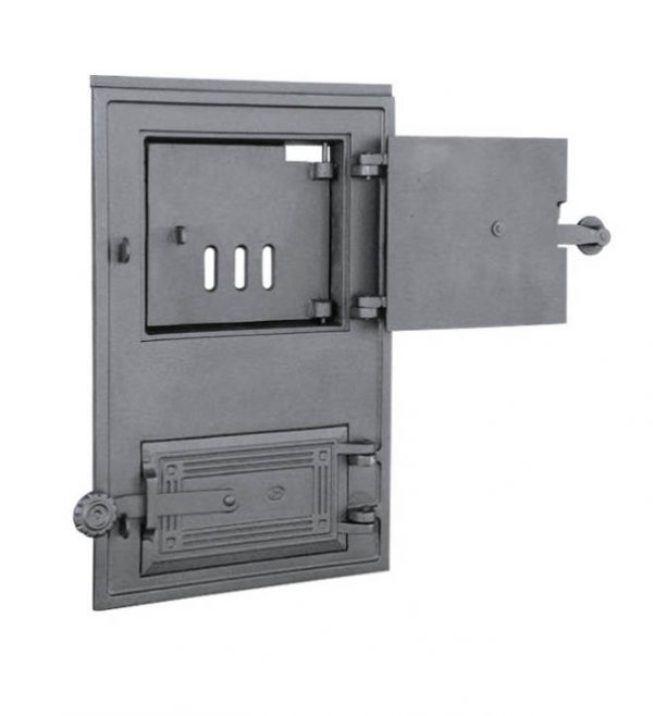 dpk 11a 600x658 - Drzwiczki żeliwne kuchenne  DPK 11 z wkładką