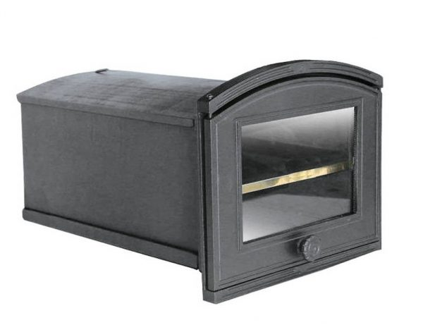pxze1 600x461 - Piekarnik żeliwny z szybą PŻE1 ( otwierany w lewo )