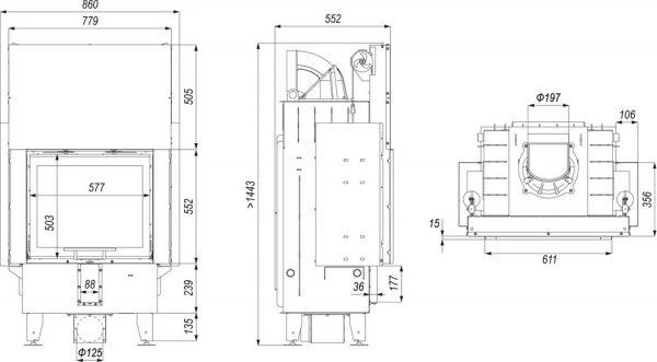 defro home prima sm g 1 600x331 - Wkład kominkowy DEFRO HOME INTRA SM G