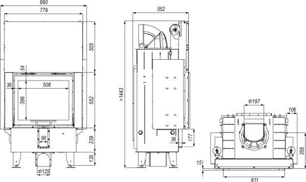 defro home prima sm g 600x357 - Wkład kominkowy DEFRO HOME INTRA SM G czarny