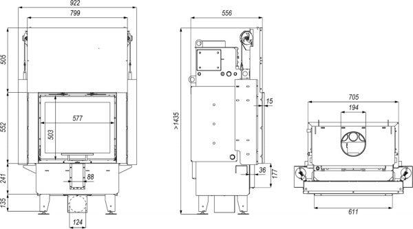 navi sm g 600x333 - Wkład kominkowy DEFRO Navi SM G