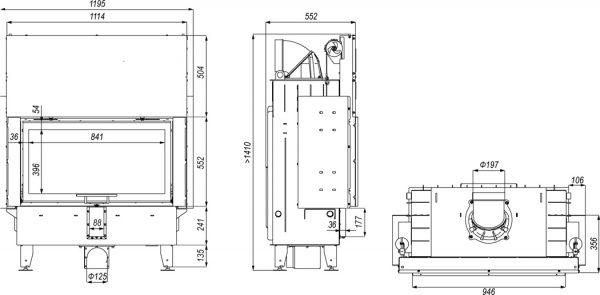 prisma la 2g 600x295 - Wkład kominkowy DEFRO HOME INTRA LA G