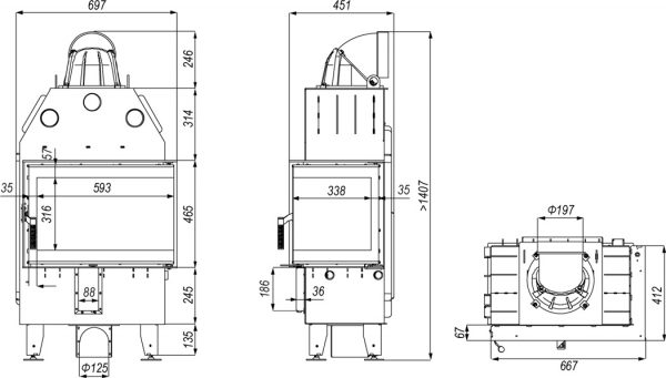 defro home prima sm bp mini 600x341 - Wkład kominkowy DEFRO HOME INTRA SM BP MINI