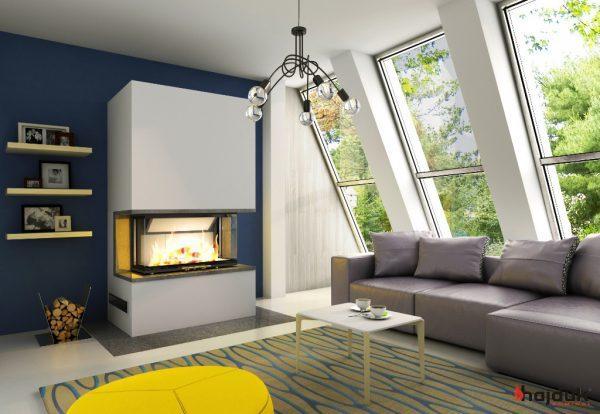 Kominek Pure Extra Volcano 3BTh 600x414 - Fireplace complete Pure  Extra 3BTh