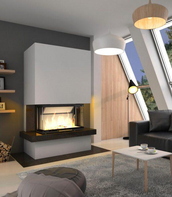 Kominek Royal ExtraVolcano 3BT 600x687 - Fireplace complete Royal Extra 3BTh