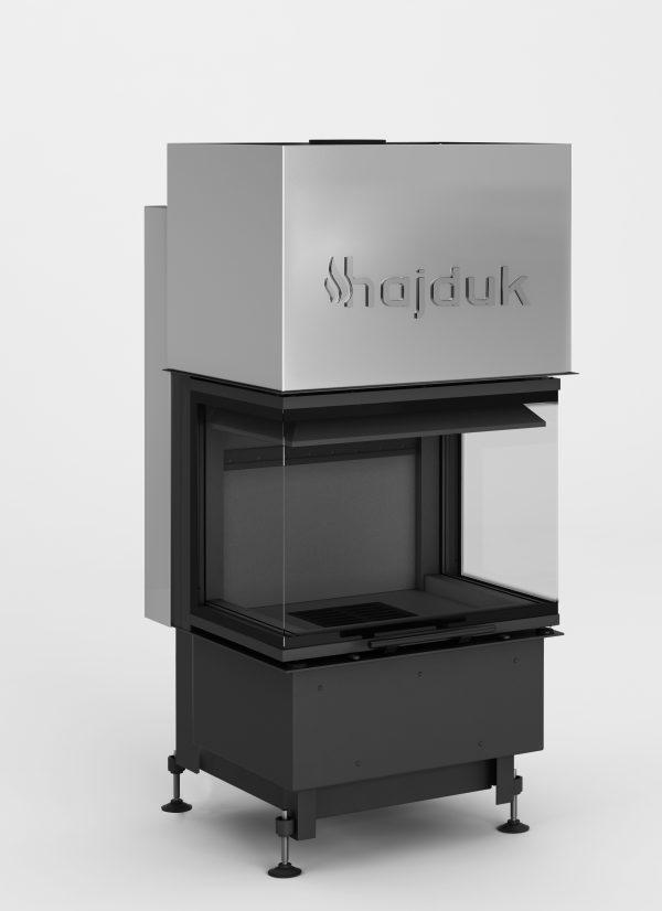 Smart 3XLTh czarny szamot 600x826 - Wkład kominkowy Hajduk Smart 3XLTh czarny szmot