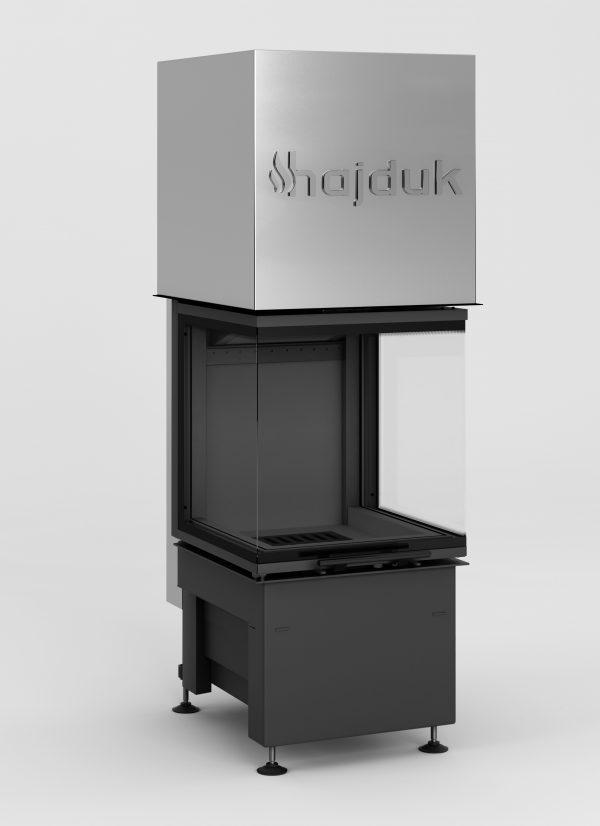 Volcano Smart 3PLh czarny szamot 600x826 - Fireplace insert Hajduk Smart 3PLh black chamotte