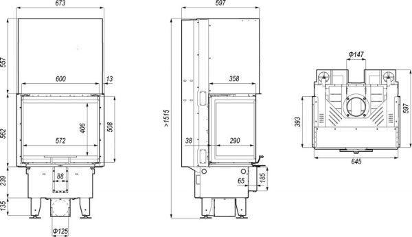 prima xsm c g 600x345 - Wkład kominkowy DEFRO HOME Intra XSM C G