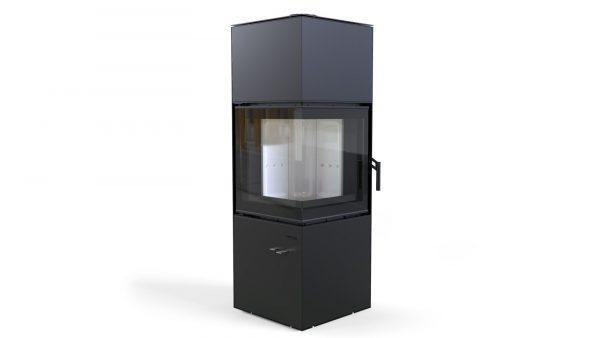 quadroom czarny 600x338 - Piecyk wolnostojący Defro Home Quadroom czarny