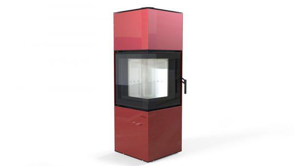 quadroom czerw 600x338 - Piecyk wolnostojący Defro Home Quadroom czarny