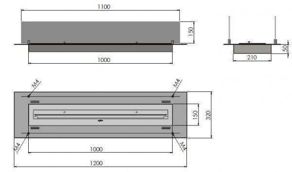 insert 1200 600x354 - Infire INSERT INOX 1200
