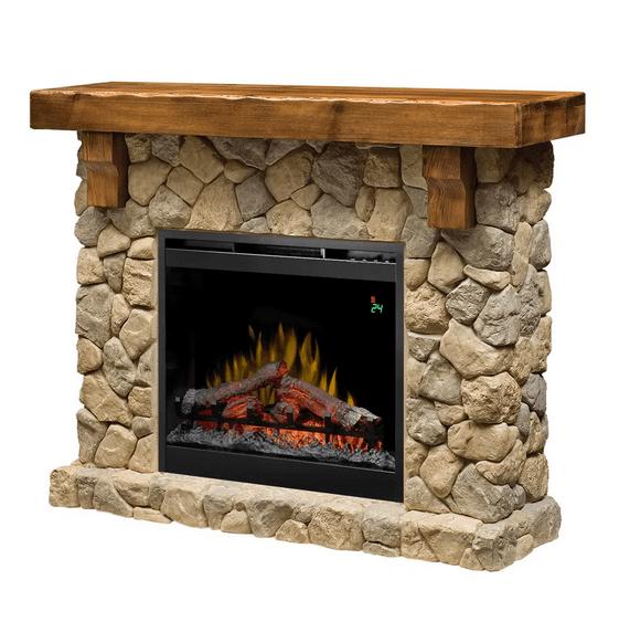 fieldstonea - Electric fireplace Fieldstone ECO LED