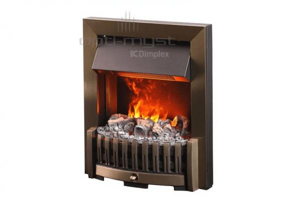 Danville mosiadz 600x407 - Electric fireplace 3D Opti-Myst Danville brass