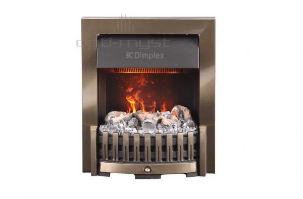 Danville mosiadz2 600x395 - Electric fireplace 3D Opti-Myst Danville brass