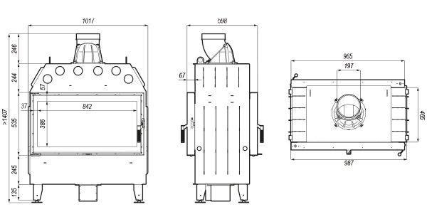 defro home prima la t 600x315 - Fireplace insert DEFRO HOME INTRA LA T