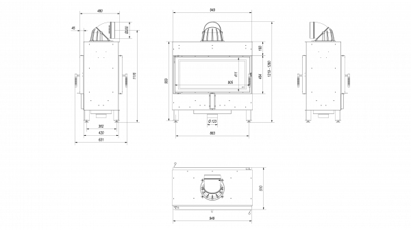 rys tech lucy 14 t 600x337 - Kamineinsatz LUCY 16  Tunnel