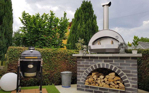 4 pizze top without base garden pizza oven 1200x750 600x375 - Piec do pizzy Alfa Forni 4 PIZZE miedziany z podstawą