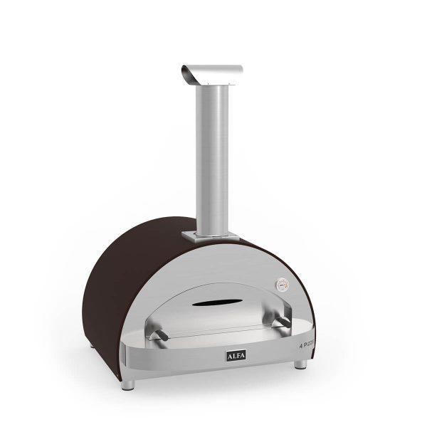 4pizze copper wood iso 600x600 - Piec do pizzy Alfa Forni 4 PIZZE miedziany