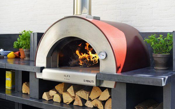 5 minuti pizza oven compact in size it can cook meals in only 5 minutes. 1200x750 600x375 - Piec do pizzy Alfa Forni 5 MINUTI czerwony z podstawą