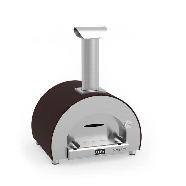 5minuti copper wood iso 600x600 - Piec do pizzy Alfa Forni 5 MINUTI Miedziany