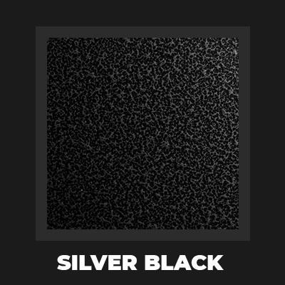 SILVER BLACK - Hybrydowy piec do pizzy Alfa Forni BRIO srebrno-czarny (drewno, gaz)