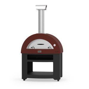 allegro base red wood alfa forni domestic ovens 300x300 - Piec do pizzy Alfa Forni Allegro czerwony z podstawą