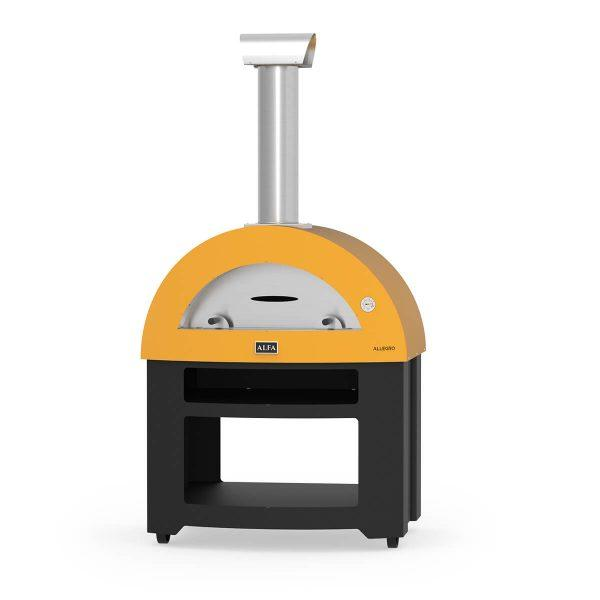 allegro base yellow wood alfa forni domestic ovens 600x600 - Piec do pizzy Alfa Forni Allegro żółty z podstawą