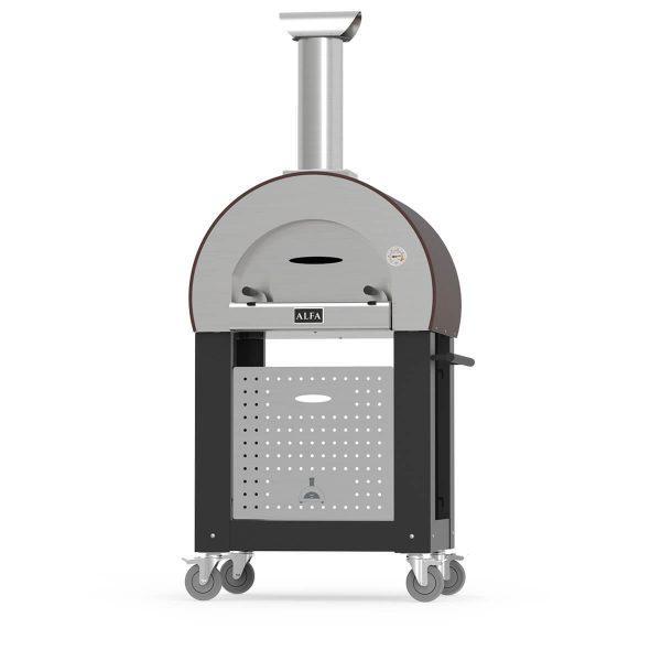 base 5minuti alfaforni wood fired pizza oven black 1 600x600 - Piec do pizzy Alfa Forni 5 MINUTI Miedziany z podstawą
