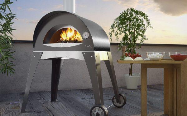 ciao outdoor cooking pizza oven 1200x750 600x375 - Piec do pizzy Alfa Forni CIAO żółty z podstawą