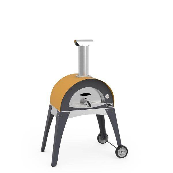 ciaopodstawa2 600x600 - Piec do pizzy Alfa Forni CIAO żółty z podstawą