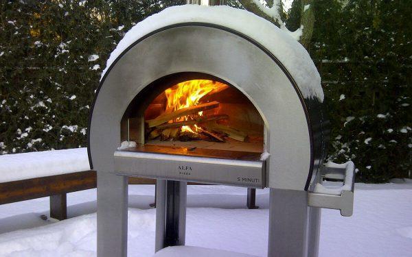 compact wood burning oven for pizza and bread. 1200x750 600x375 - Piec do pizzy Alfa Forni 5 MINUTI czerwony z podstawą