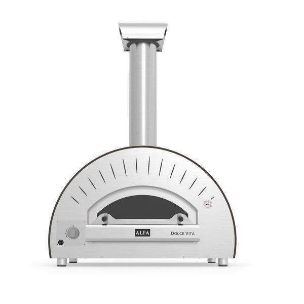 dolcevita grey gas front 600x600 - Hybrydowy piec do pizzy Alfa Forni Dolce Vita (na gaz o drewno)