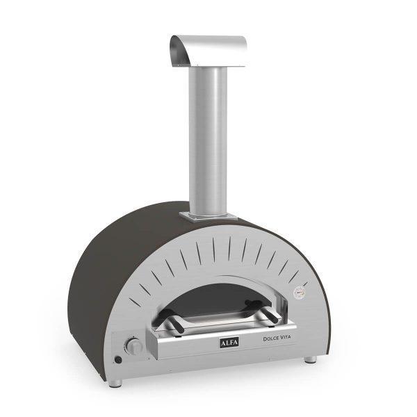 dolcevita grey gas iso 600x600 - Hybrydowy piec do pizzy Alfa Forni Dolce Vita (na gaz o drewno)