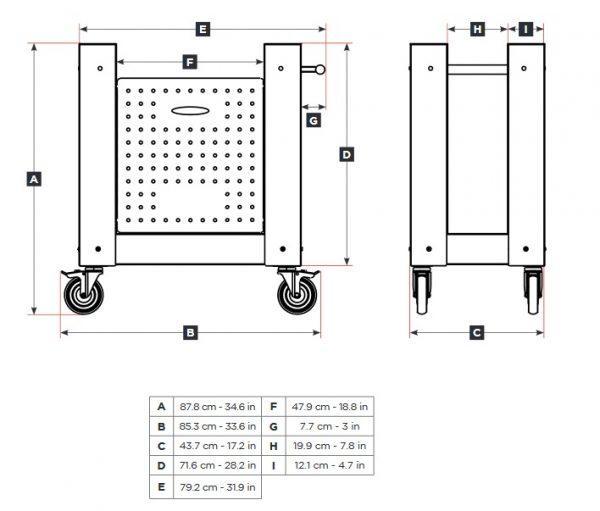 one base 600x511 - Piec do pizzy Alfa Forni ONE opalany drewnem z podstawą