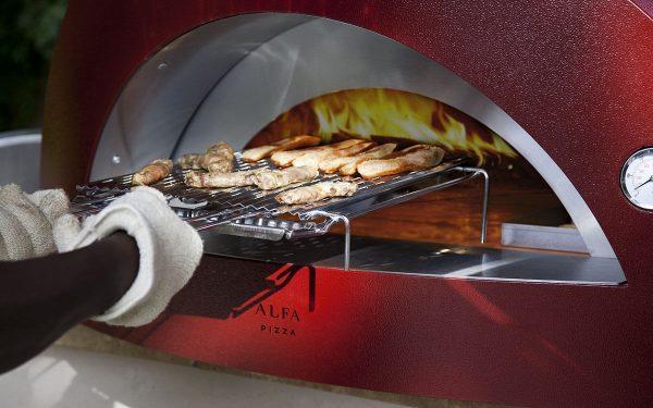 pizza forni 2 600x375 - Piec do pizzy Alfa Forni 5 MINUTI czerwony z podstawą